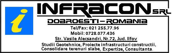 INFRACON S.R.L.: Studii geotehnice, proiecte pentru infrastructuri în construcții, consolidare terenuri slabe, expertize și consultanță